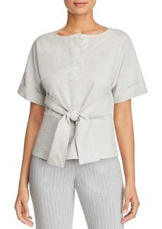 DKNY Donna Karan New York Tie-Front Peplum Top