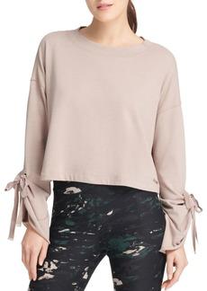 DKNY Donna Karan New York Tie-Sleeve Sweatshirt
