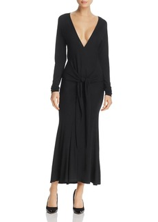 Donna Karan New York Tie-Waist Midi Dress