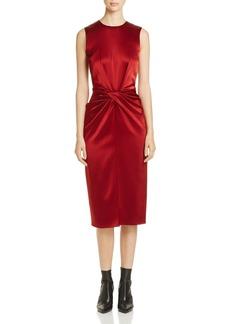 Donna Karan New York Twist Front Silk Dress