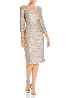DKNY Donna Karan New York V-Neck Sequin Dress