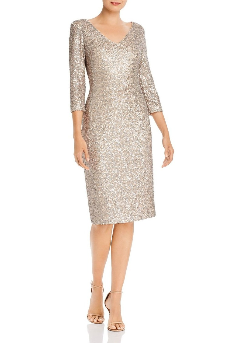 DKNY Donna Karan New York V-Neck Sequin Dress