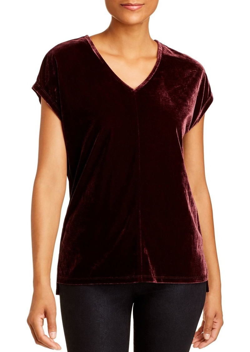 DKNY Donna Karan New York Velour V-Neck Top
