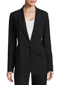 Donna Karan One-Button Blazer