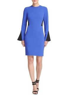 DKNY Donna Karan Panel Bell Sleeve Sheath Dress