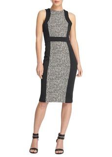 DKNY Donna Karan Paneled Sheath Dress