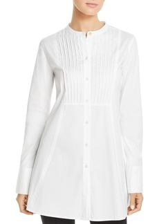 DKNY Donna Karan Pintucked Button Down Tunic