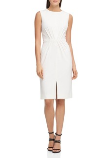 DKNY Donna Karan Pintucked Scuba Crepe Dress