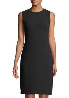 Donna Karan Pique Sleeveless Sheath Dress