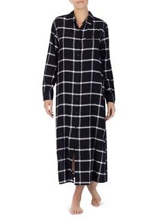 DKNY Donna Karan Plaid Long Sleepshirt
