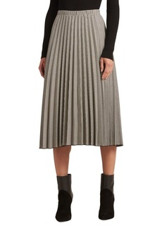 DKNY Donna Karan Pleated A-Line Skirt