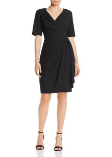 DKNY Donna Karan New York Pleated Faux-Wrap Dress
