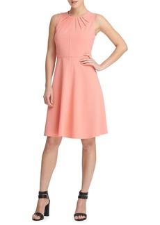 DKNY Donna Karan Pleated Fit-and-Flare Dress