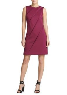 DKNY Donna Karan Pleated Sheath Dress