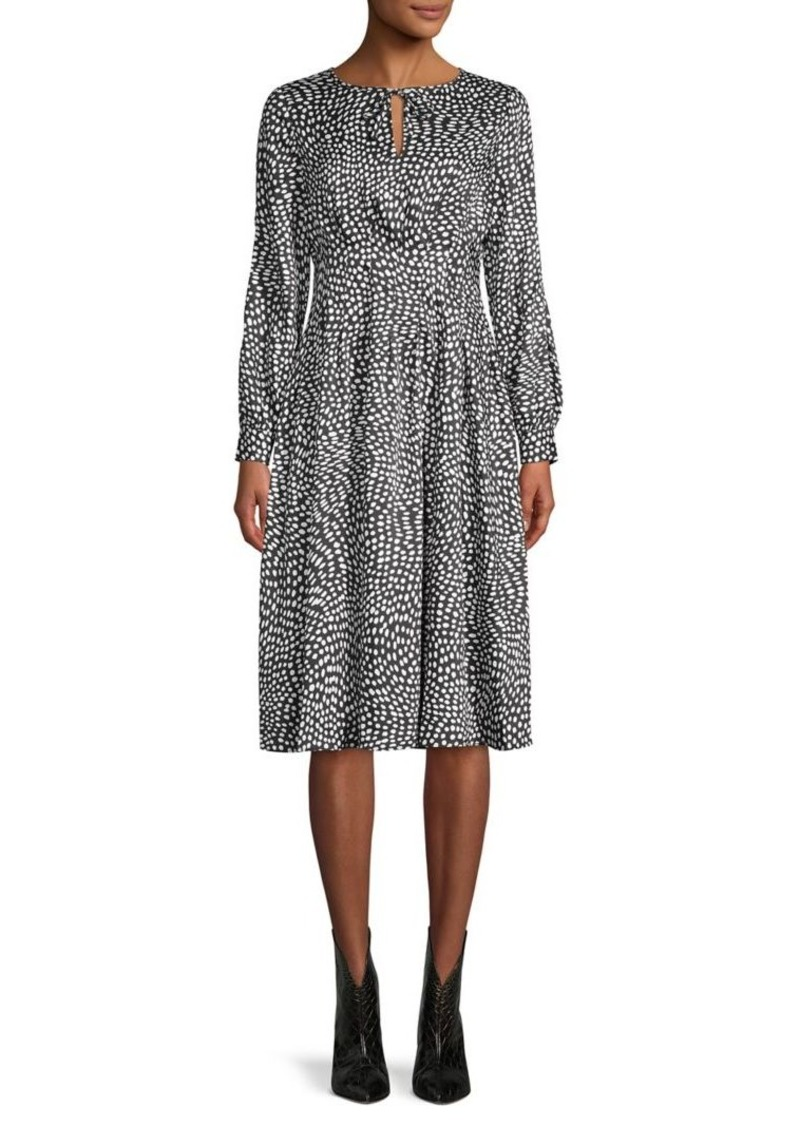 DKNY Donna Karan Printed A-Line Dress