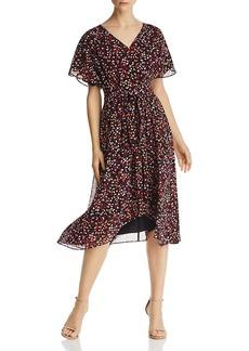 DKNY Donna Karan New York Printed Chiffon Dress