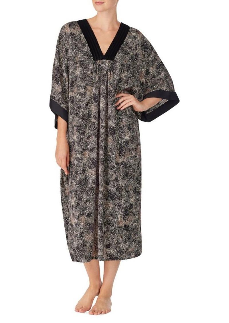 DKNY Donna Karan Printed Long-Sleeve Caftan