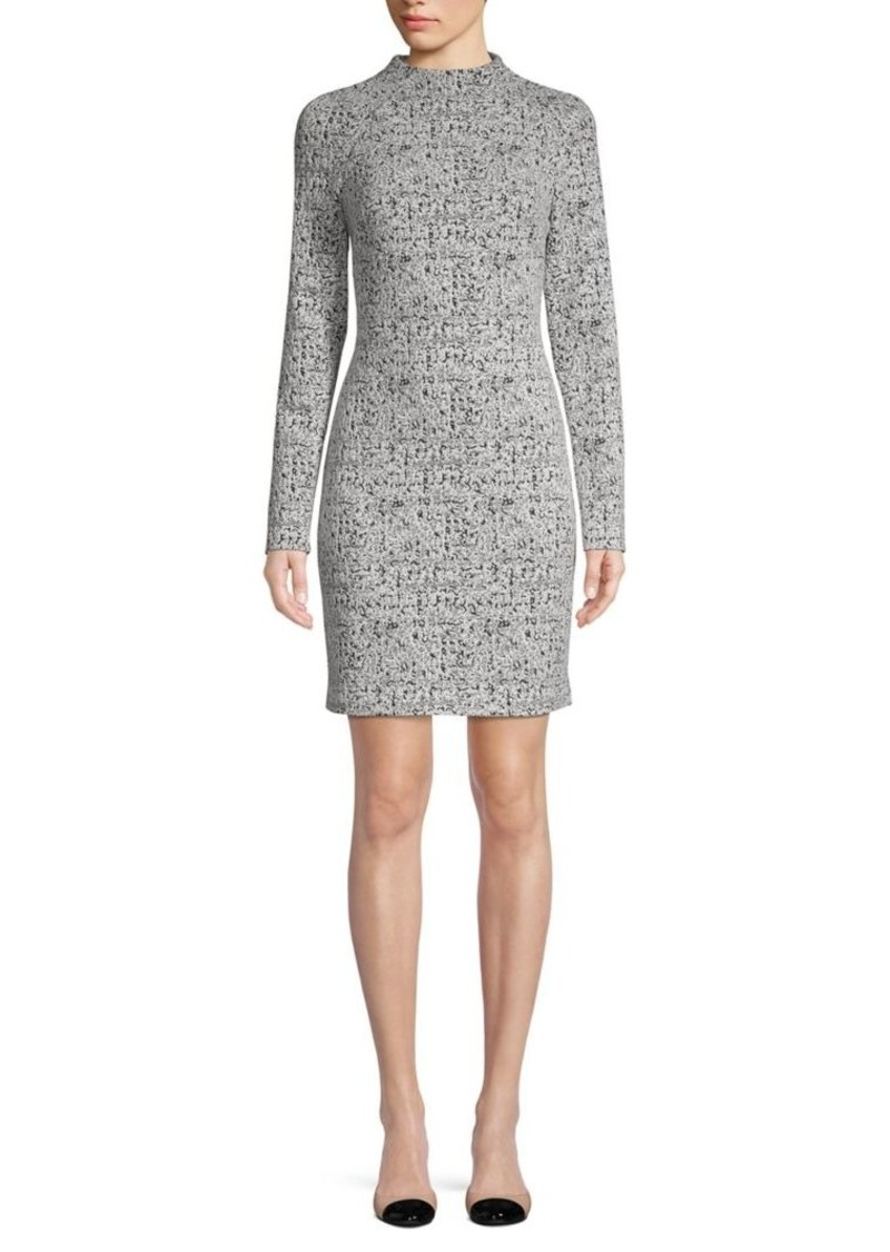 DKNY Donna Karan Printed Raglan-Sleeve Mini Sheath Dress