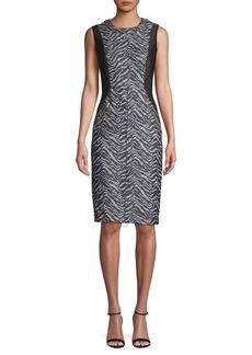 DKNY Donna Karan Printed Sheath Dress