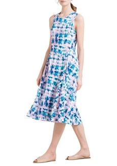 DKNY Donna Karan Printed Sleeveless Midi Dress