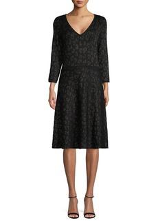 DKNY Donna Karan Printed Sweater Dress