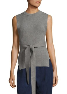 DKNY Ribbed Belted Pullover