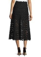 DKNY Donna Karan Ribbon Lace Midi Skirt