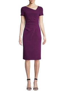 DKNY Donna Karan Ruched Side Sheath Dress
