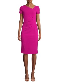 DKNY Donna Karan Ruched-Waist Sheath Dress