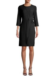DKNY Donna Karan Ruched Waist Sheath Dress