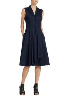 DKNY Donna Karan Ruffle-Skirt Shirt Dress