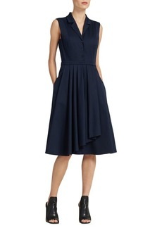 Donna Karan Ruffle-Skirt Shirt Dress
