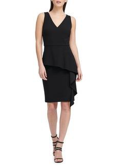 DKNY Donna Karan Ruffled Peplum Sheath Dress