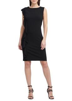 DKNY Donna Karan Ruffled Sheath Dress