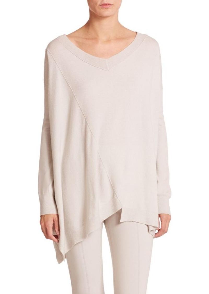 DKNY Donna Karan Seamed Asymmetrical Sweater