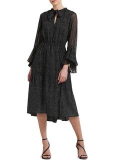 DKNY Donna Karan Self-Tie Bell-Sleeve Dress