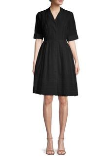 DKNY Donna Karan Short-Sleeve Lace Eyelet Shirtdress