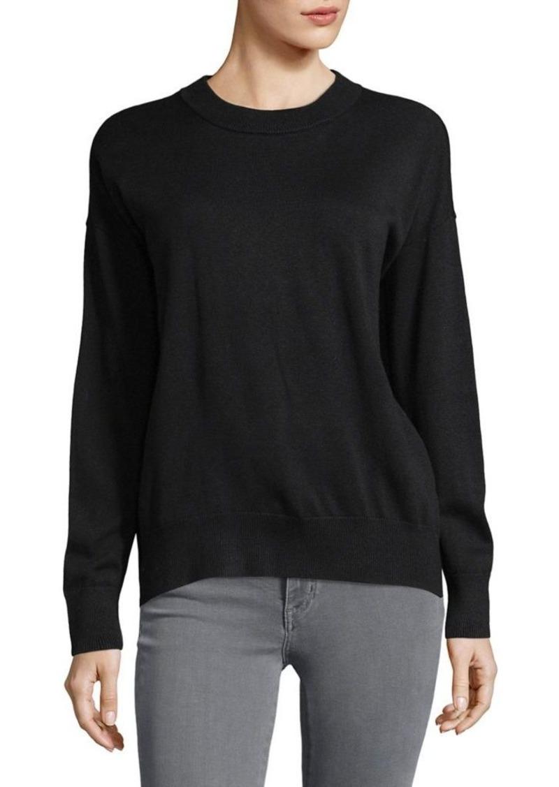 64bb26735ca26 DKNY Donna Karan New York Silk-Blend Split Hem Sweater - Shop It To Me