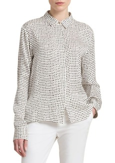 DKNY Donna Karan Silk Button-Down Blouse