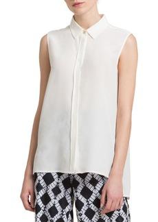 DKNY Donna Karan Silk Crepe Blouse