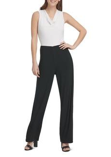 DKNY Donna Karan Sleeveless Contrast Jumpsuit