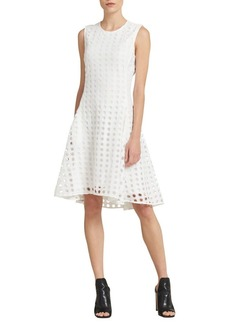 DKNY Donna Karan Sleeveless Eyelet Fit-&-Flare Dress