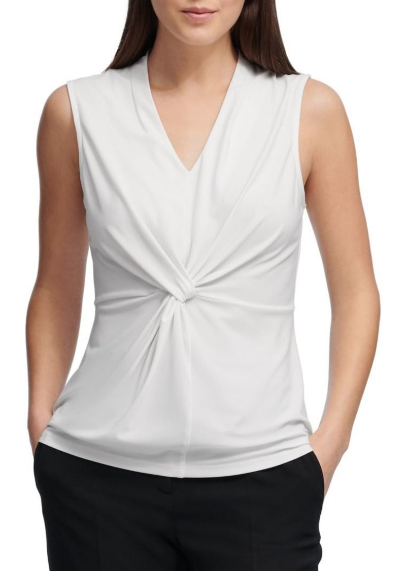 cd15aa035517 DKNY Donna Karan Sleeveless Knotted Top Now $12.25