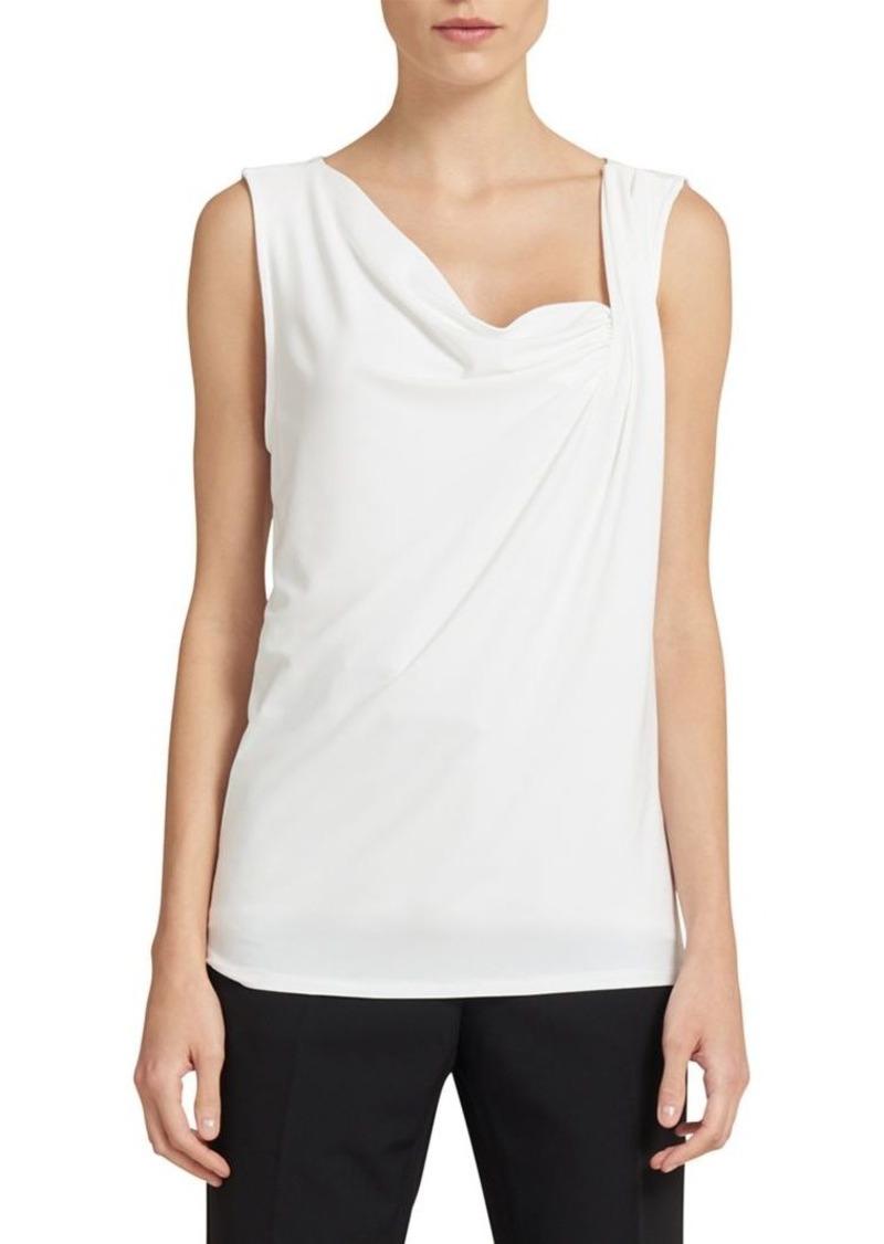 5570f8cb56f6 DKNY Donna Karan Sleeveless Ruched Neck Top | Casual Shirts