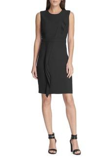 DKNY Donna Karan Sleeveless Ruffled Sheath Dress