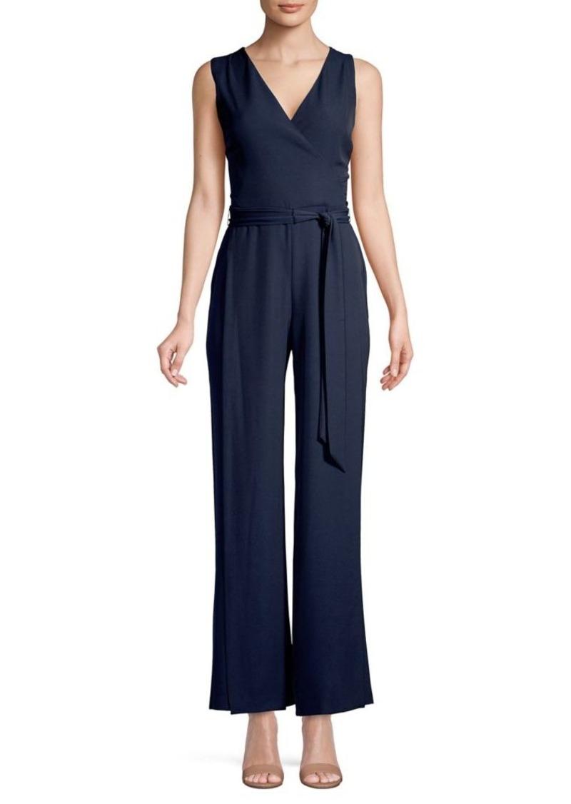 DKNY Donna Karan Sleeveless Tie-Waist Jumpsuit