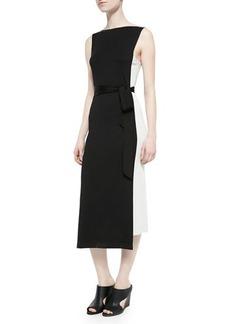 Donna Karan Sleeveless Uneven-Hem Sheath Dress