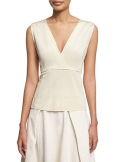 DKNY Donna Karan Sleeveless V-Neck Peplum Top