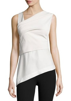 DKNY Donna Karan Sleeveless Wrap Top W/Bow Back