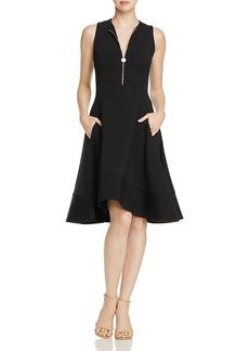 Donna Karan Sleeveless Zip-Front Dress